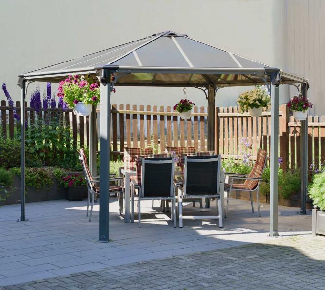 aluminij gazebo arakova 4 5x3 9 m. Black Bedroom Furniture Sets. Home Design Ideas